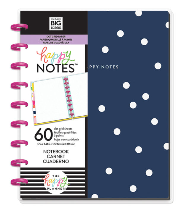 mambi notebooks classic navy dots dot grid suzy stick it
