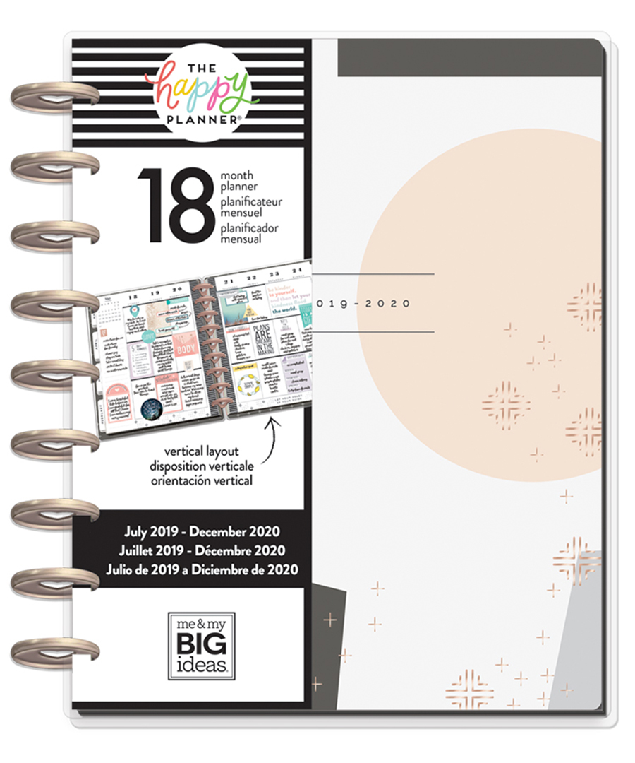 MAMBI – Happy Planner – Classic Modern Peach Planner 18 Months July  2019-June 2020
