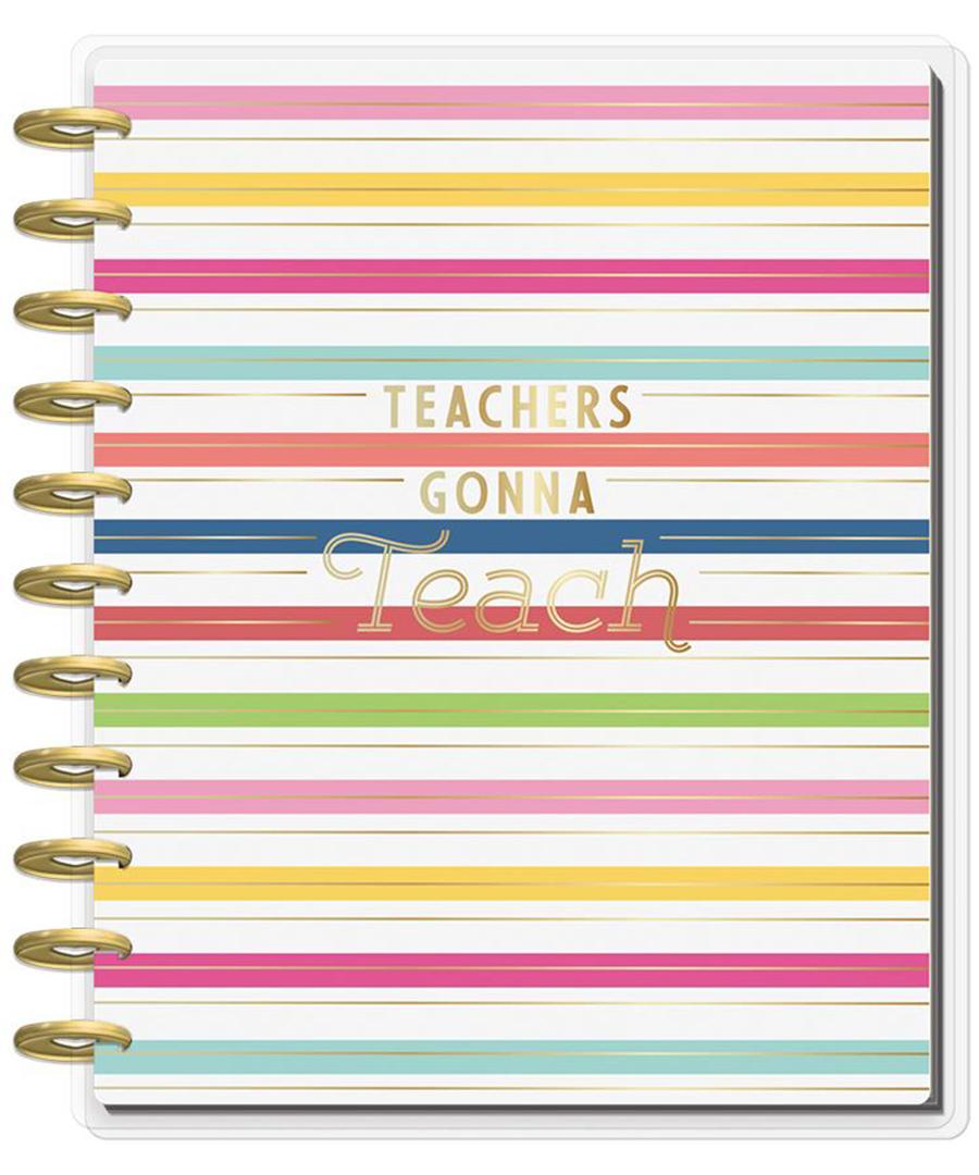 MAMBI - Happy Planner - BIG Teacher Planner - Teachers Gonna Teach - 12  Months (2019-2020)